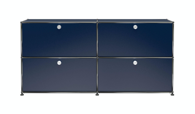Usm-quick-ship-Haller-Credenza-E2-steel-blue-haute-living