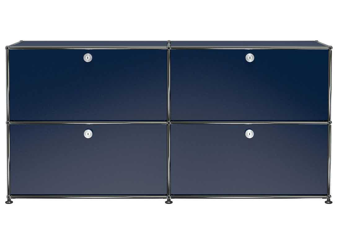 Usm-quick-ship-Haller-Credenza-E2-steel-blue-haute-living