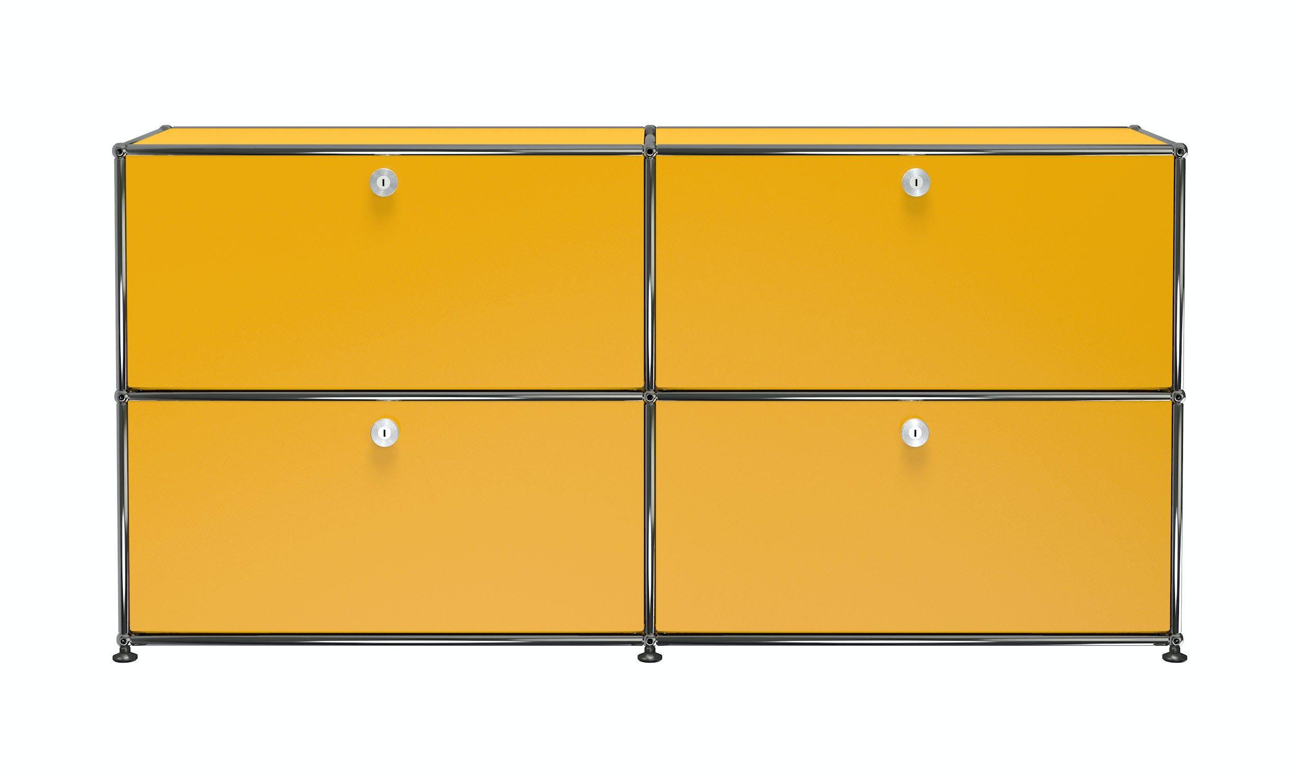 Usm-quick-ship-Haller-Credenza-E2-yellow-haute-living