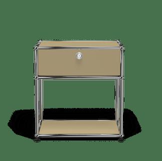 Usm haller nightstand p2 beige front haute living