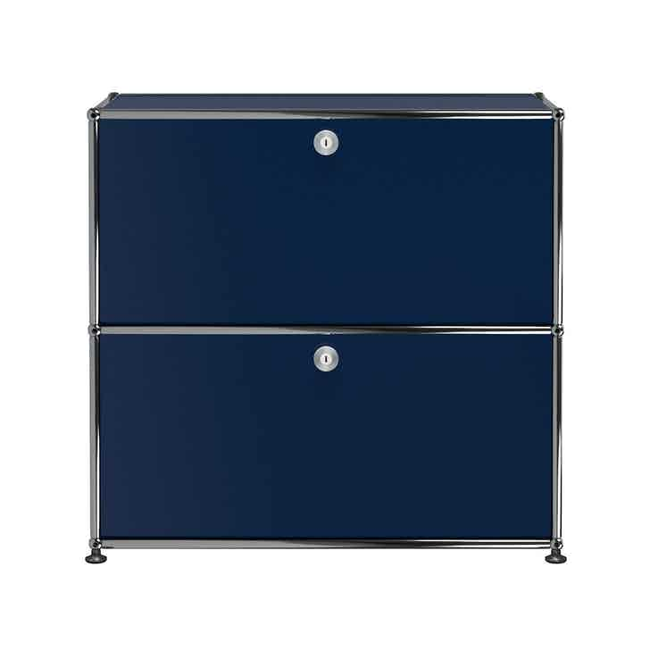 Usm-quick-ship-white-Haller-Storage-C1A18-steel-blue-haute-living