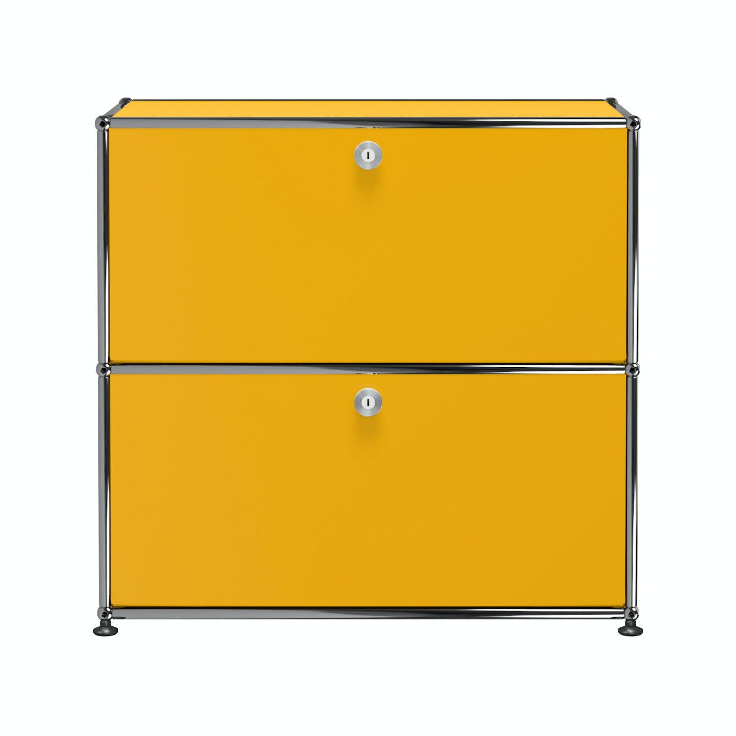 Usm-quick-ship-white-Haller-Storage-C1A18-yellow-haute-living