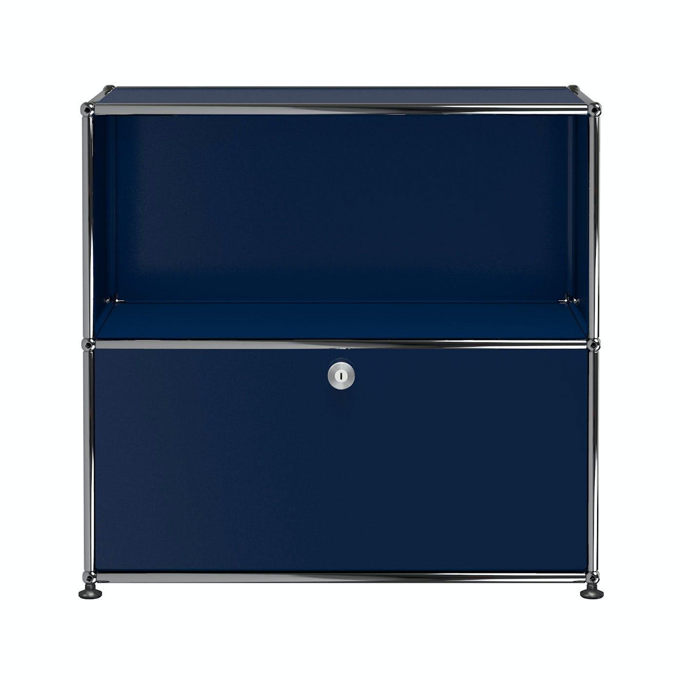 Usm-quick-ship-Haller-Storage-C1B-steel-blue-haute-living