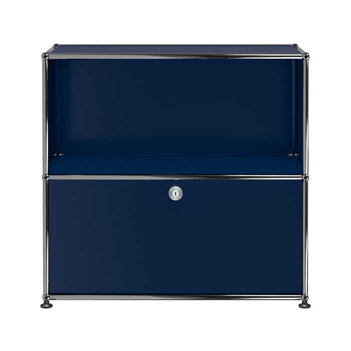 Usm-quick-ship-Haller-Storage-C1B-steel-blue-haute-living