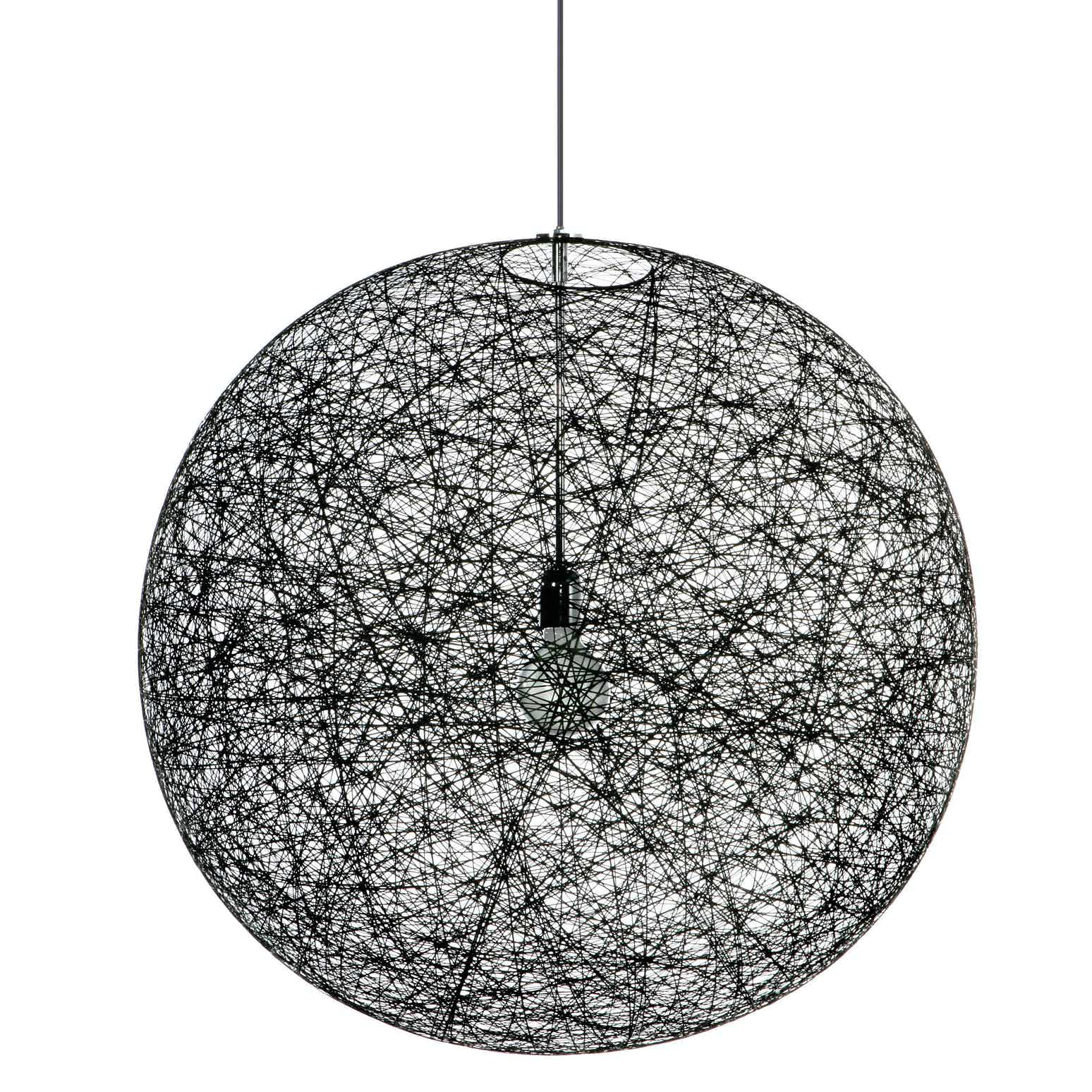 Moooi random light black unlit haute living