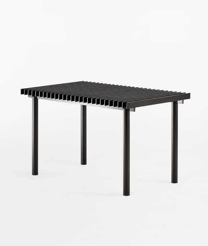 Matter made range life ii truss table angle haute living