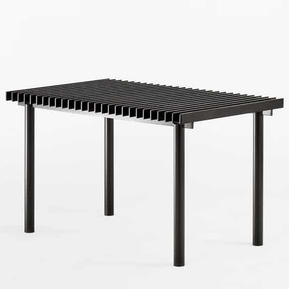 Matter made range life ii truss table angle haute living