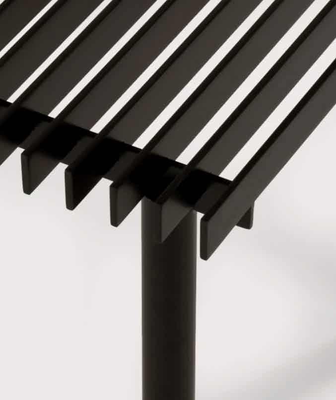 Matter made range life ii truss table detail haute living