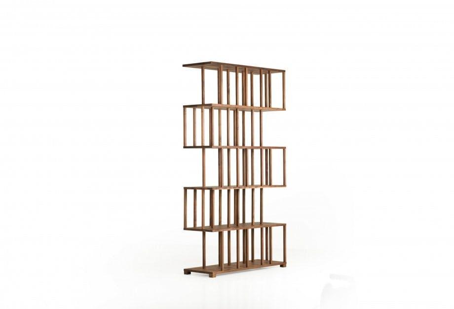 Reedy Bookcase In Walnut 2