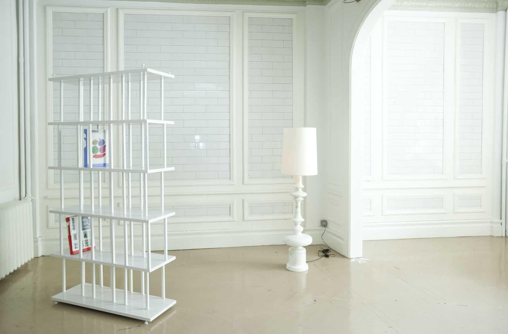 De La Espada Autoban Reedy Bookcase Insitu White Haute Living