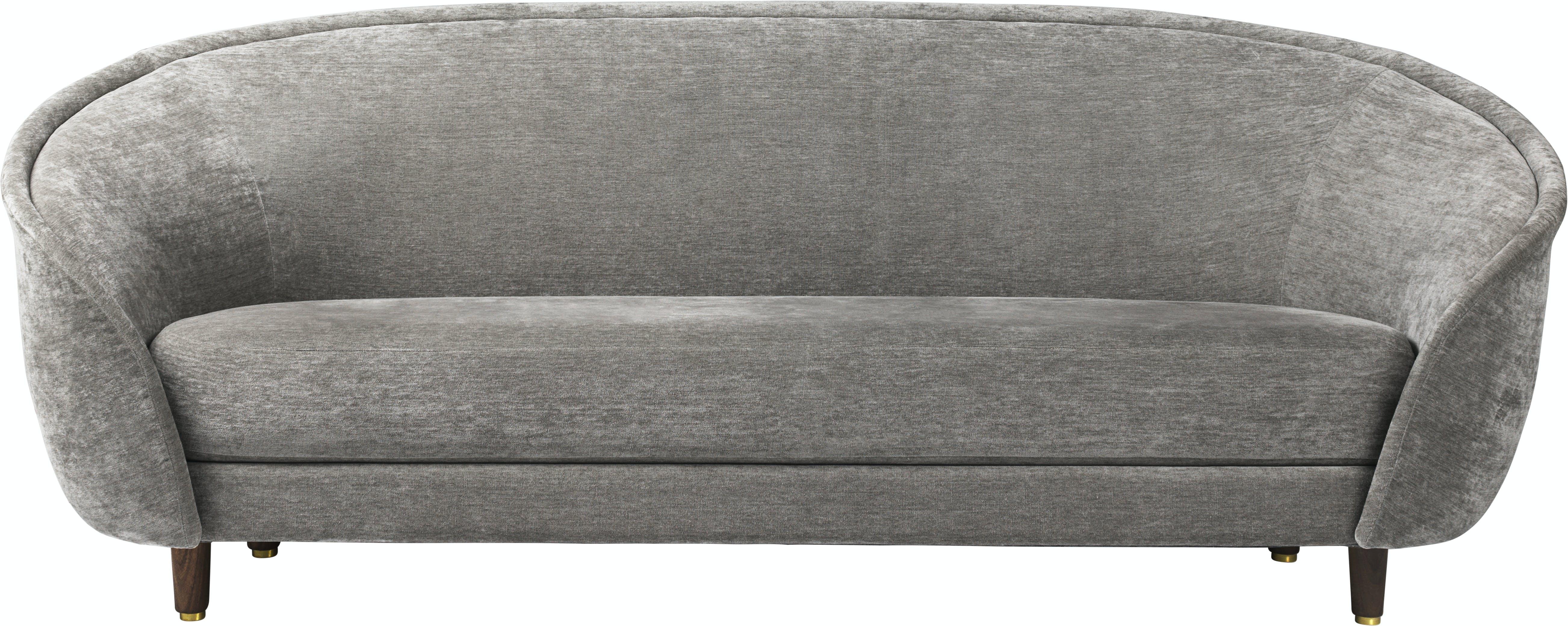 Revers Sofa 215X100 Wood Fully Upholstered American Walnut Dedar Belsuede 011 Front 1