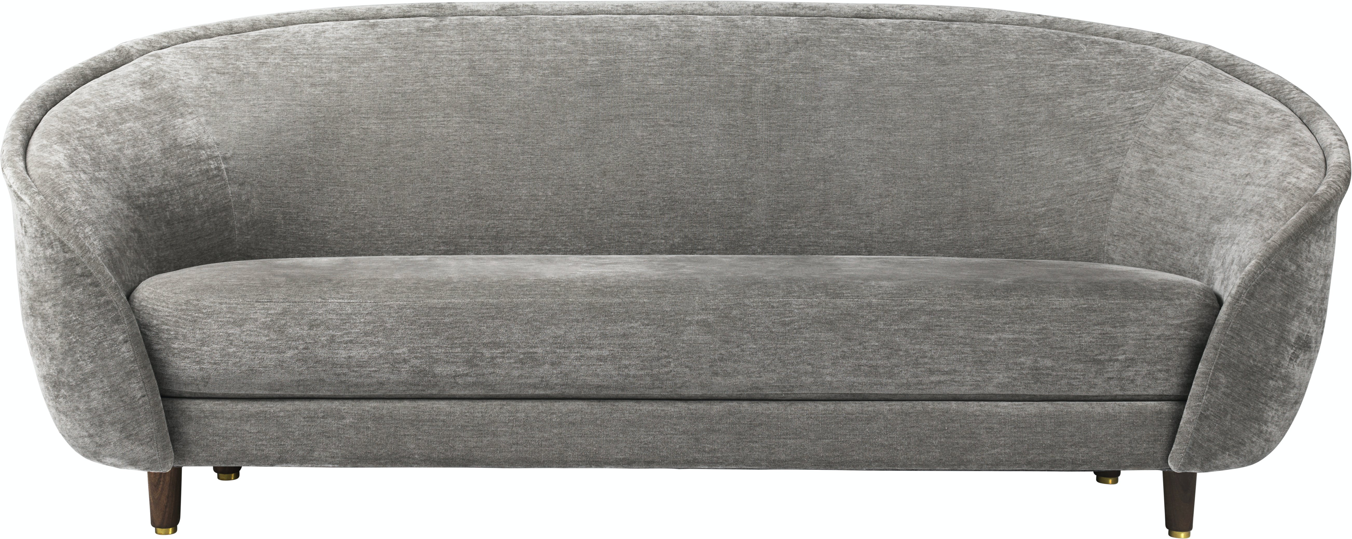 Revers Sofa 215X100 Wood Fully Upholstered American Walnut Dedar Belsuede 011 Front 1