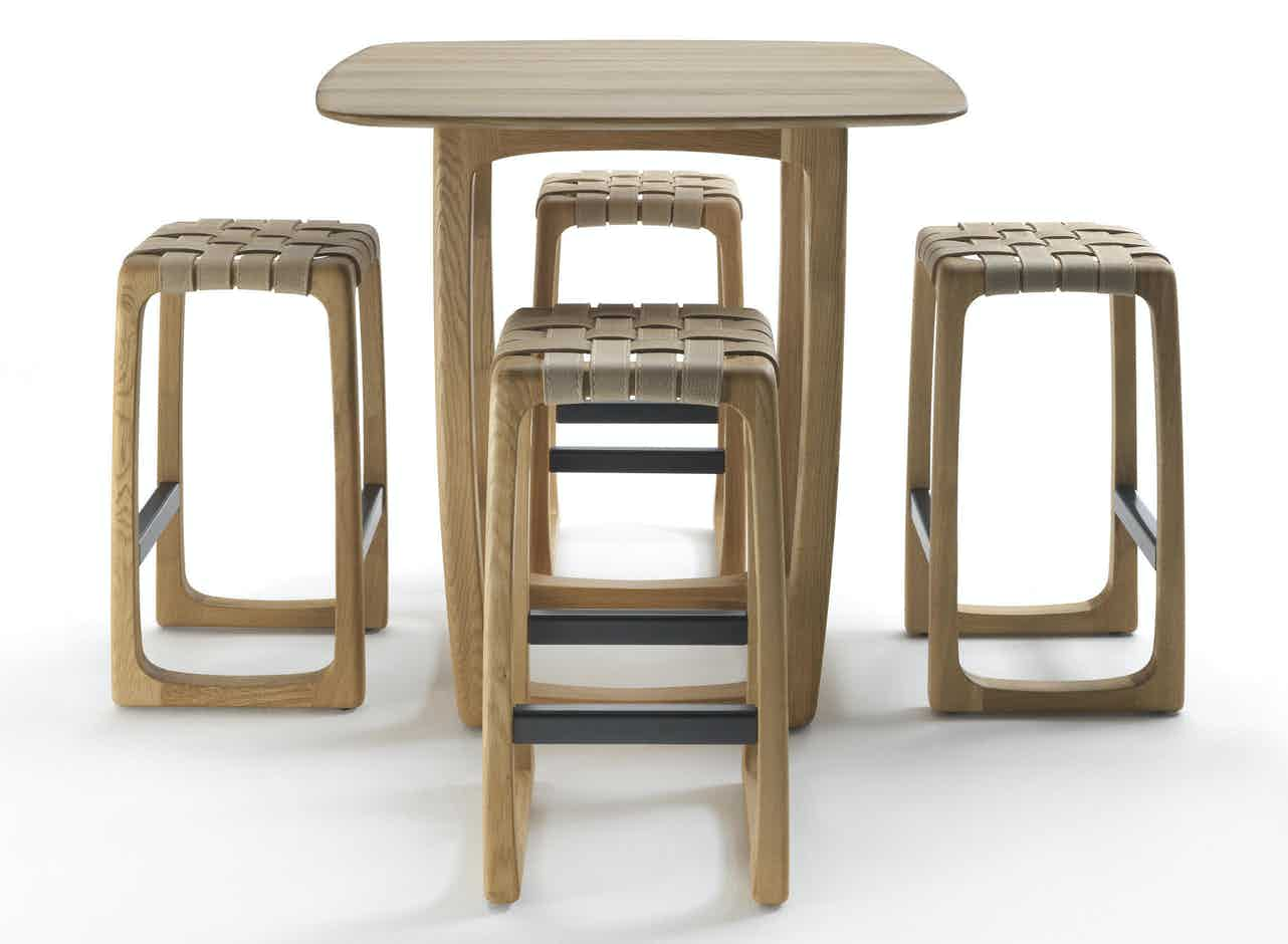 Riva 1920 bungalow bar table with chairs haute living