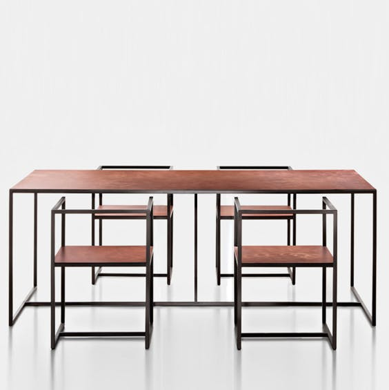 De Castelli Riveria Table Four Chairs Haute Living Thumbnail