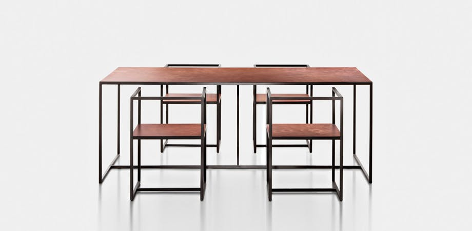 De Castelli Riveria Table Four Chairs Haute Living