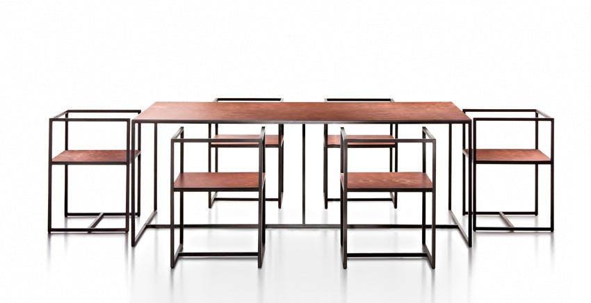 De Castelli Riveria Table Six Chairs Haute Living