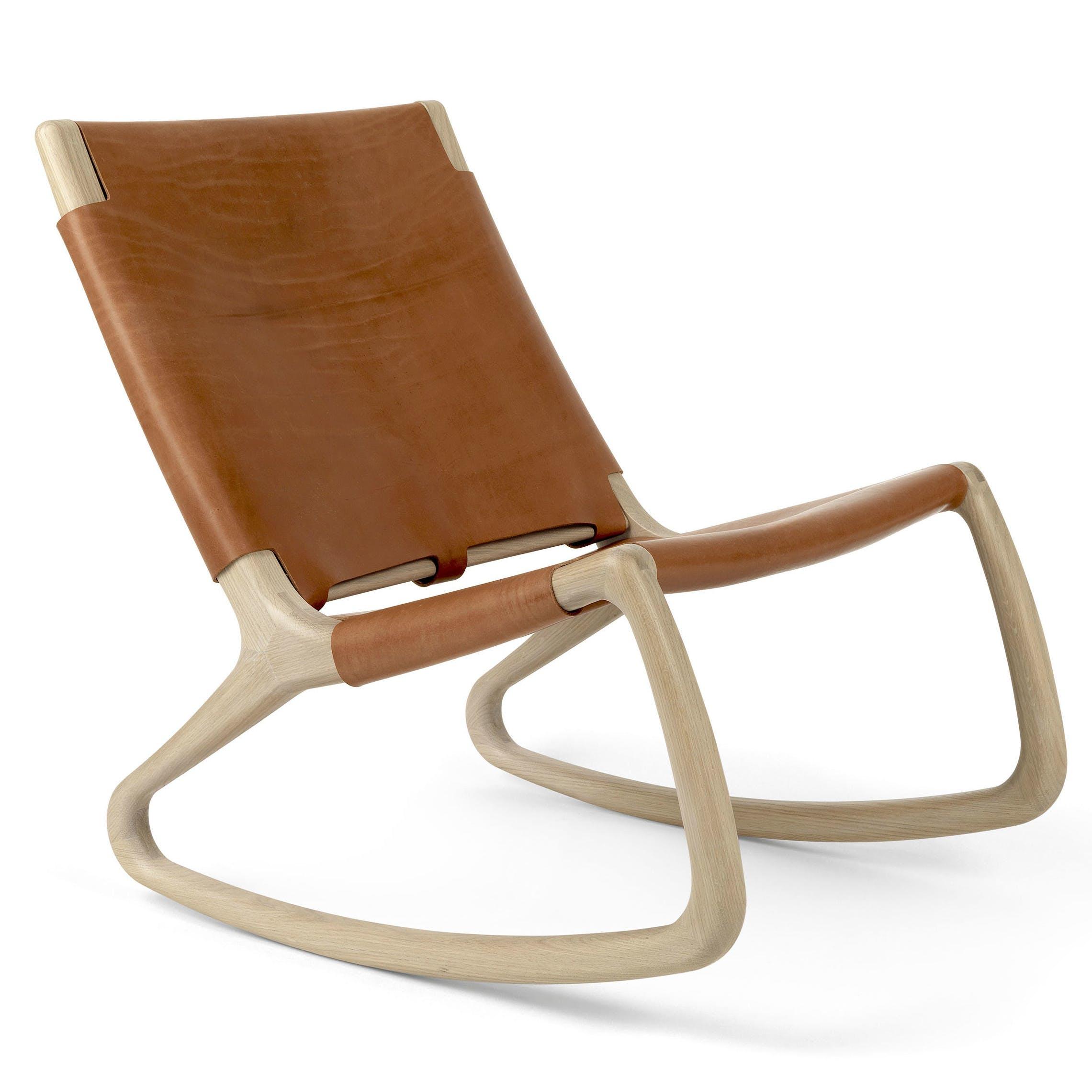 Mater Whiskey Rocker Chair Front Haute Living