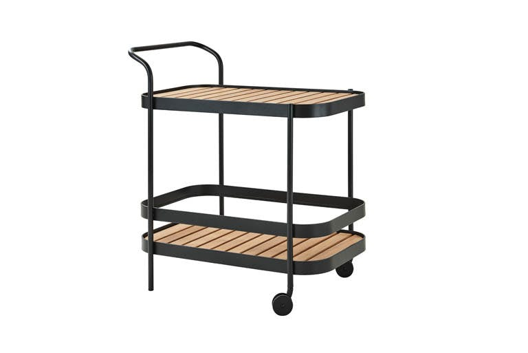 Roll Bar Trolley Black