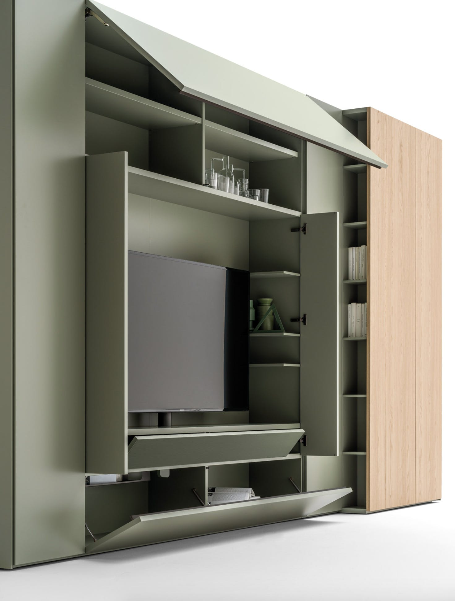 Caccaro Roomy Module Tv Open Haute Living