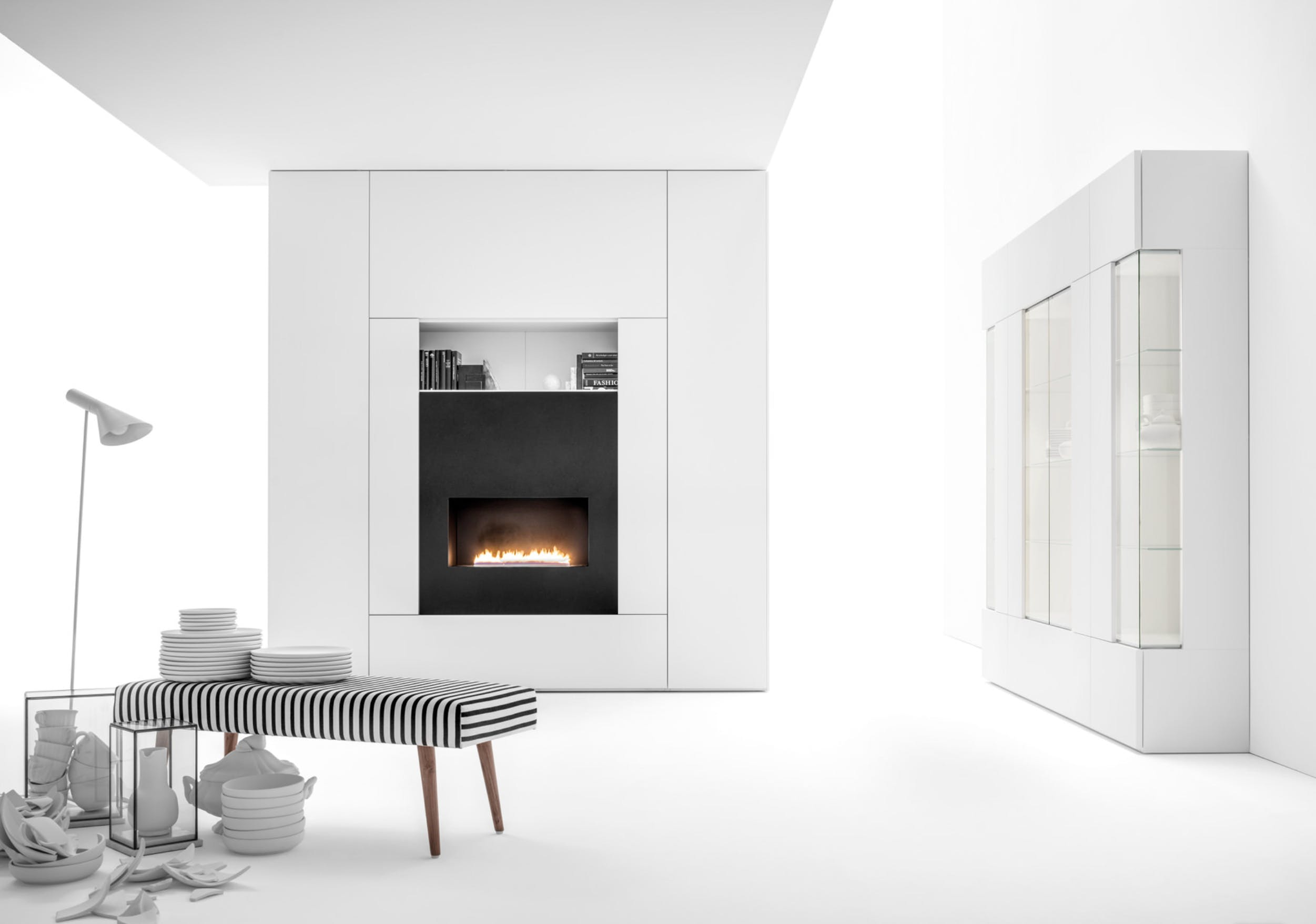 Caccaro Roomy Module White Haute Living