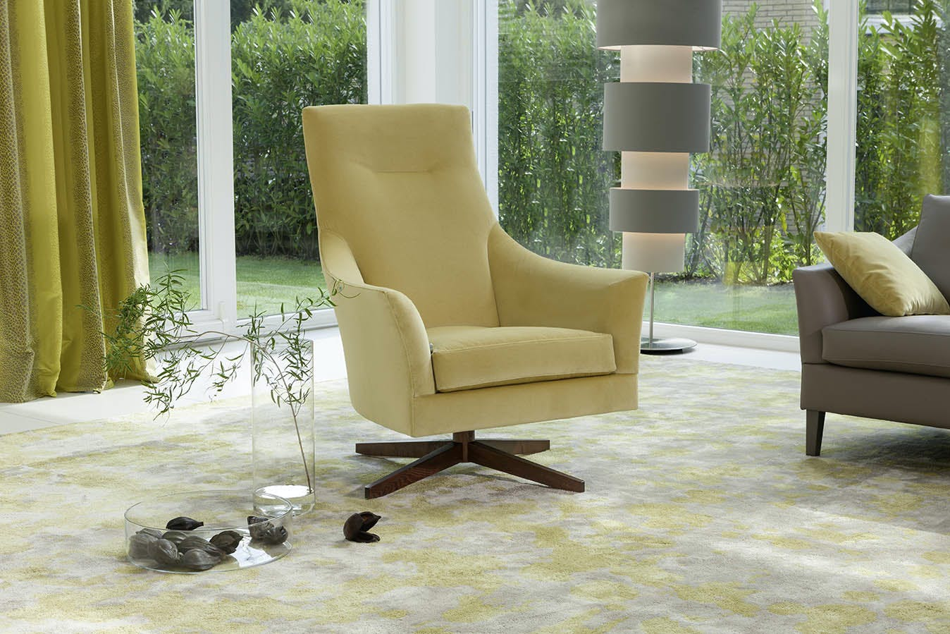 Jab Anstoetz Saloni High Back Armchair Insitu Haute Living