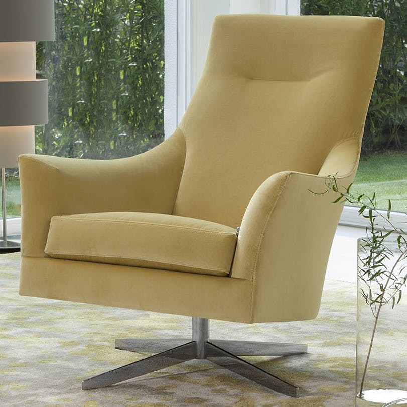 Jab Anstoetz Saloni High Back Armchair Reclined Haute Living