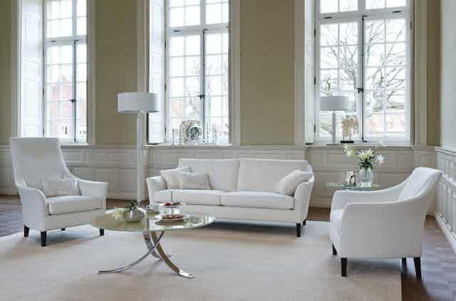 Jab Anstoetz White Saloni High Back Armchair Insitu Haute Living