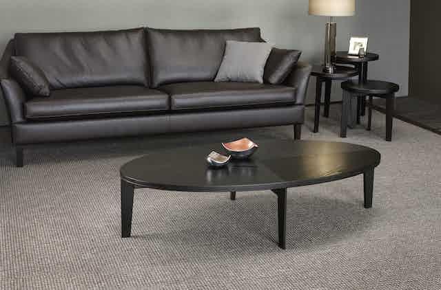 Jab Anstoetz Black Leather Saloni Sofa Insitu Haute Living
