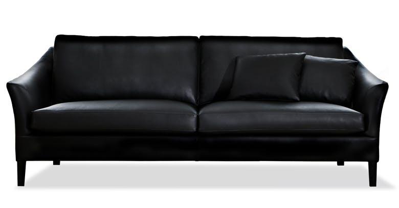 Jab Anstoetz Saloni Black Leather Sofa Haute Living Copy
