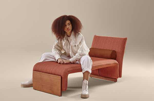 Sancal diwan chaise longue pink insitu haute living