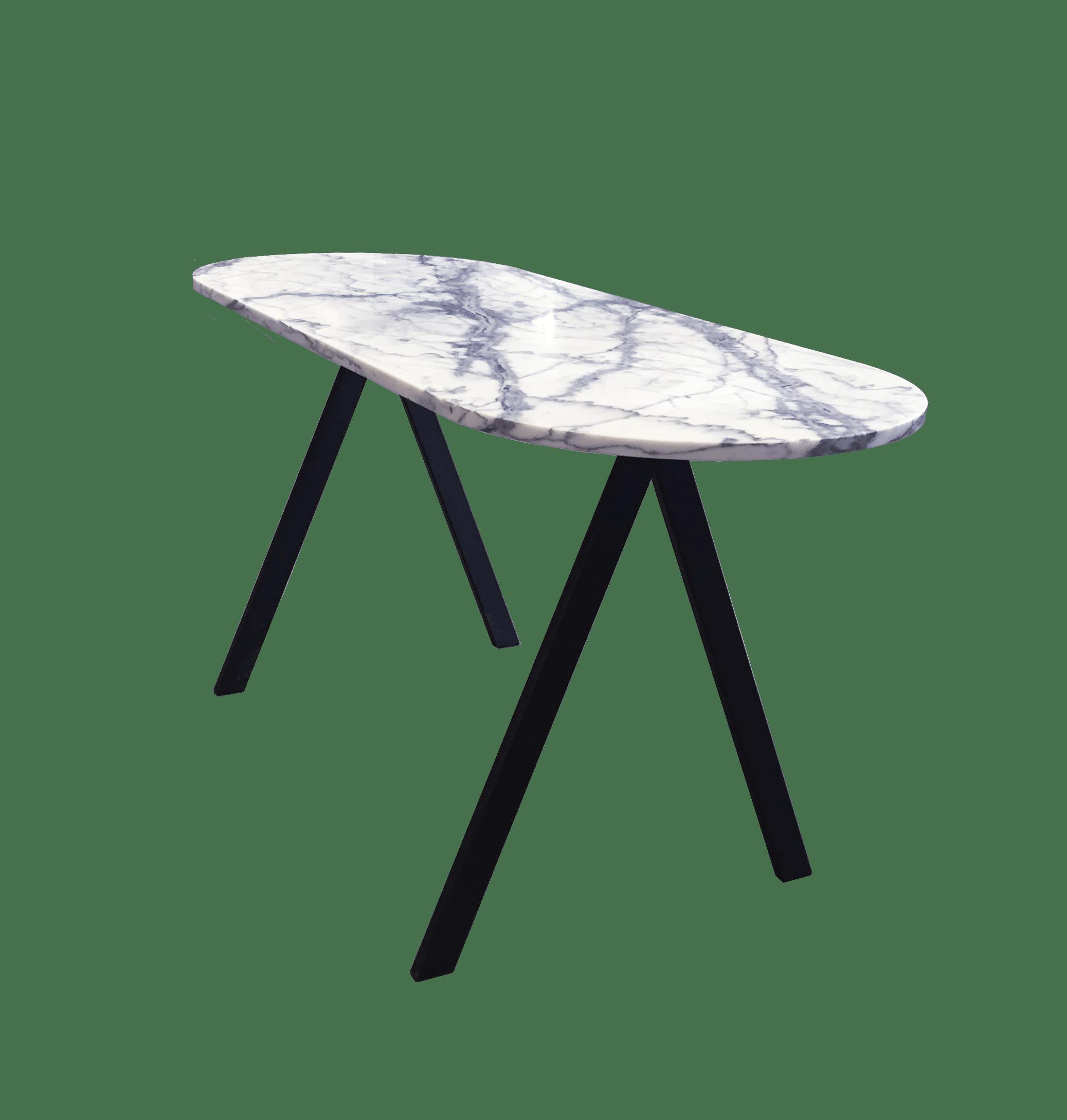 Saw Desk White Marble