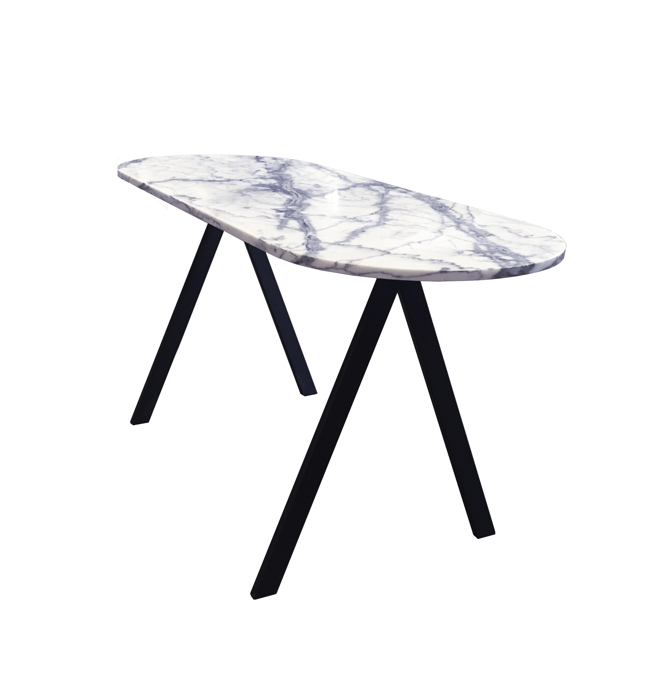 Saw Desk White Marble