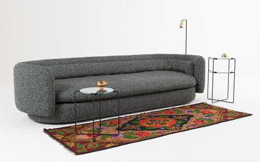 Scp furniture group sofa with side tables haute living