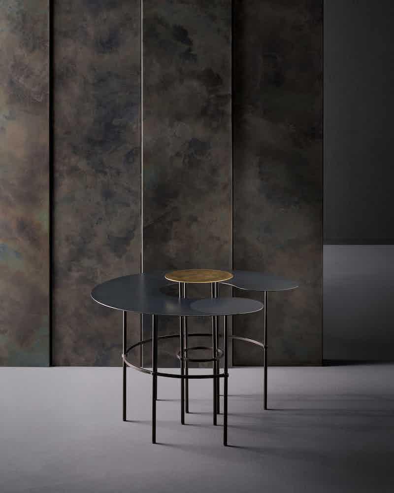 De castelli scribble tables dark haute living