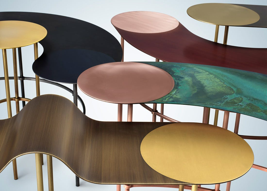 De Castelli Scribble Tables Detail Haute Living