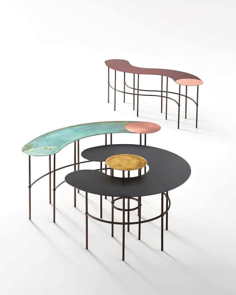 De castelli scribble tables haute living trio