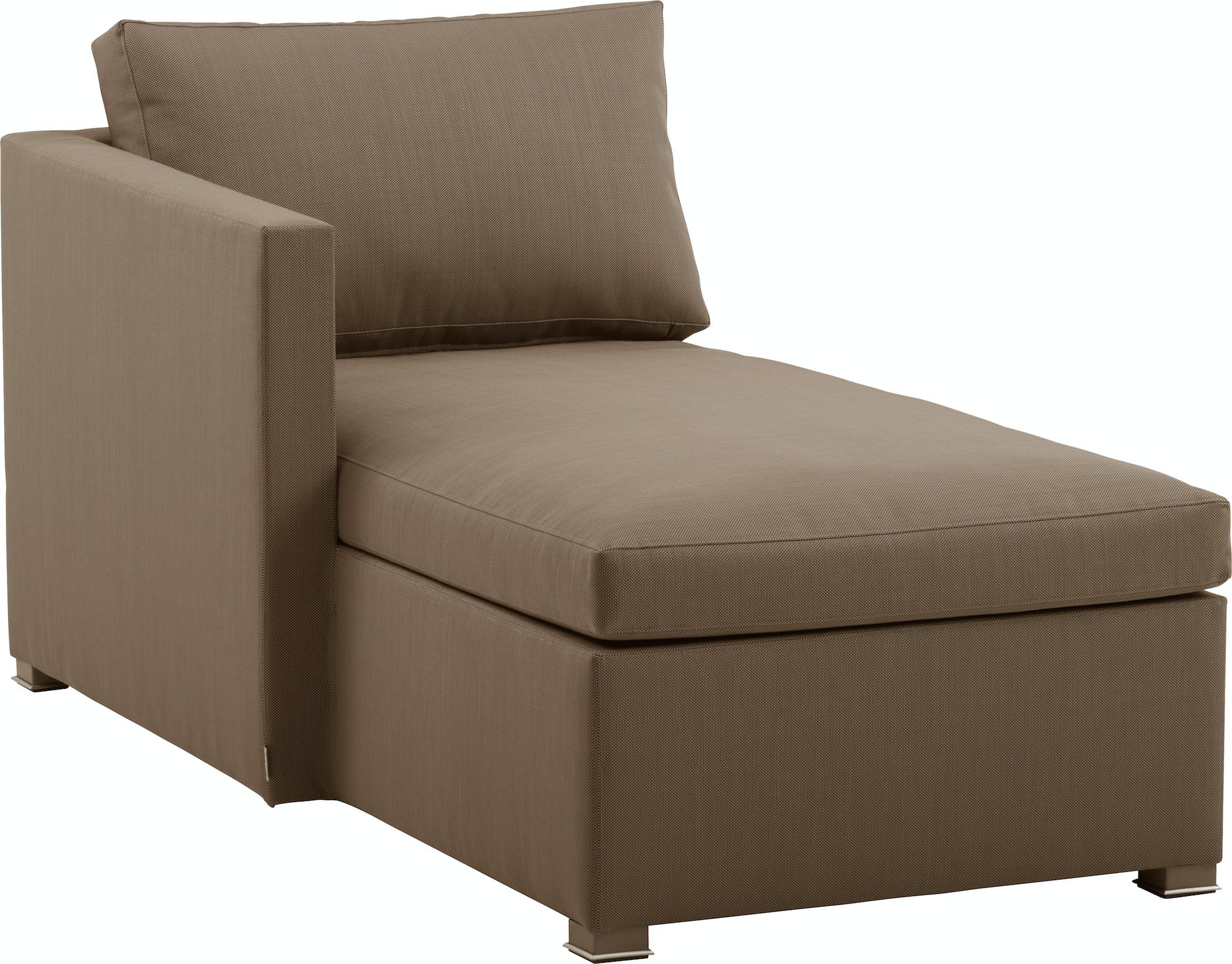 Shape Chaiselounge Right Brown