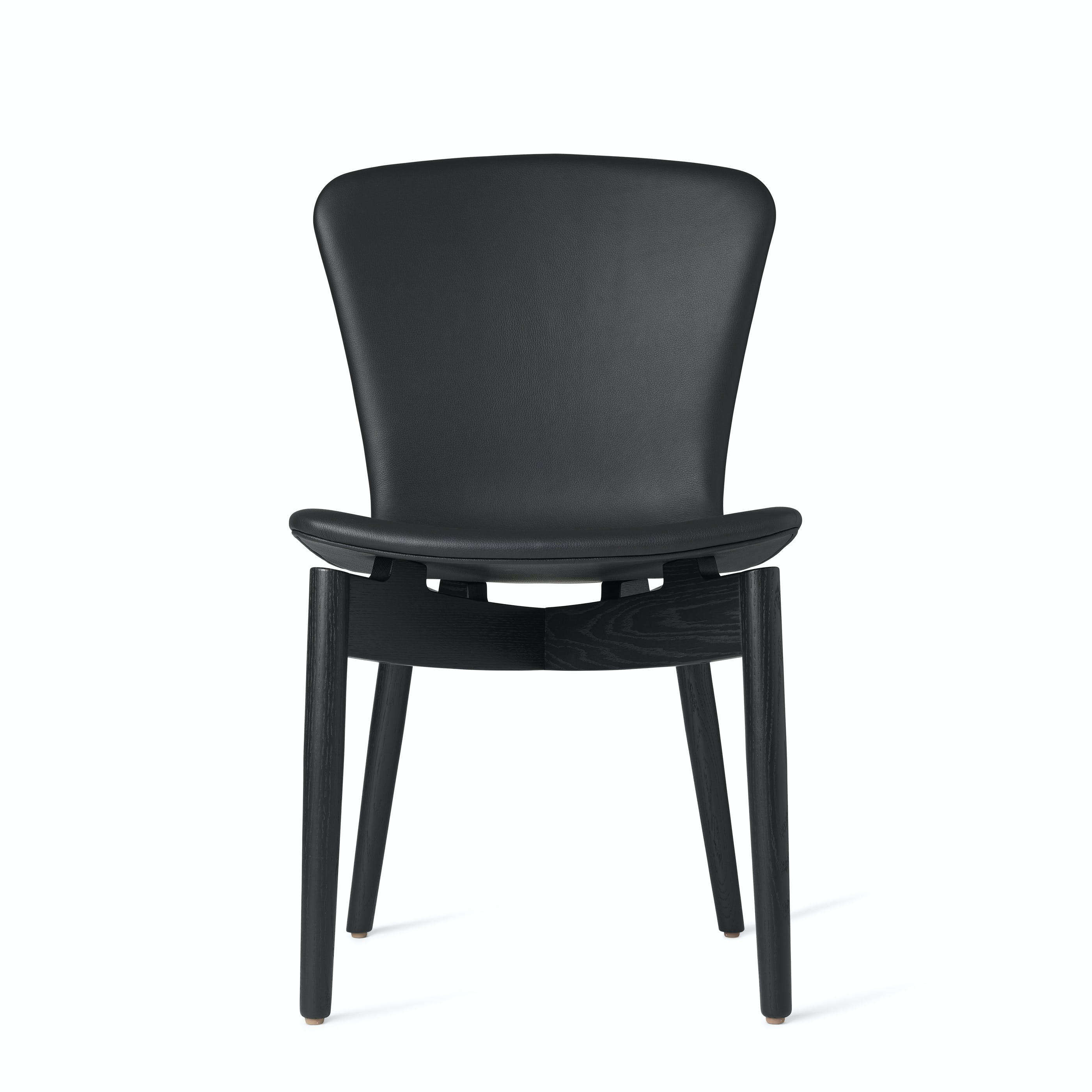 Mater Black Shell Dining Chair Front Haute Living