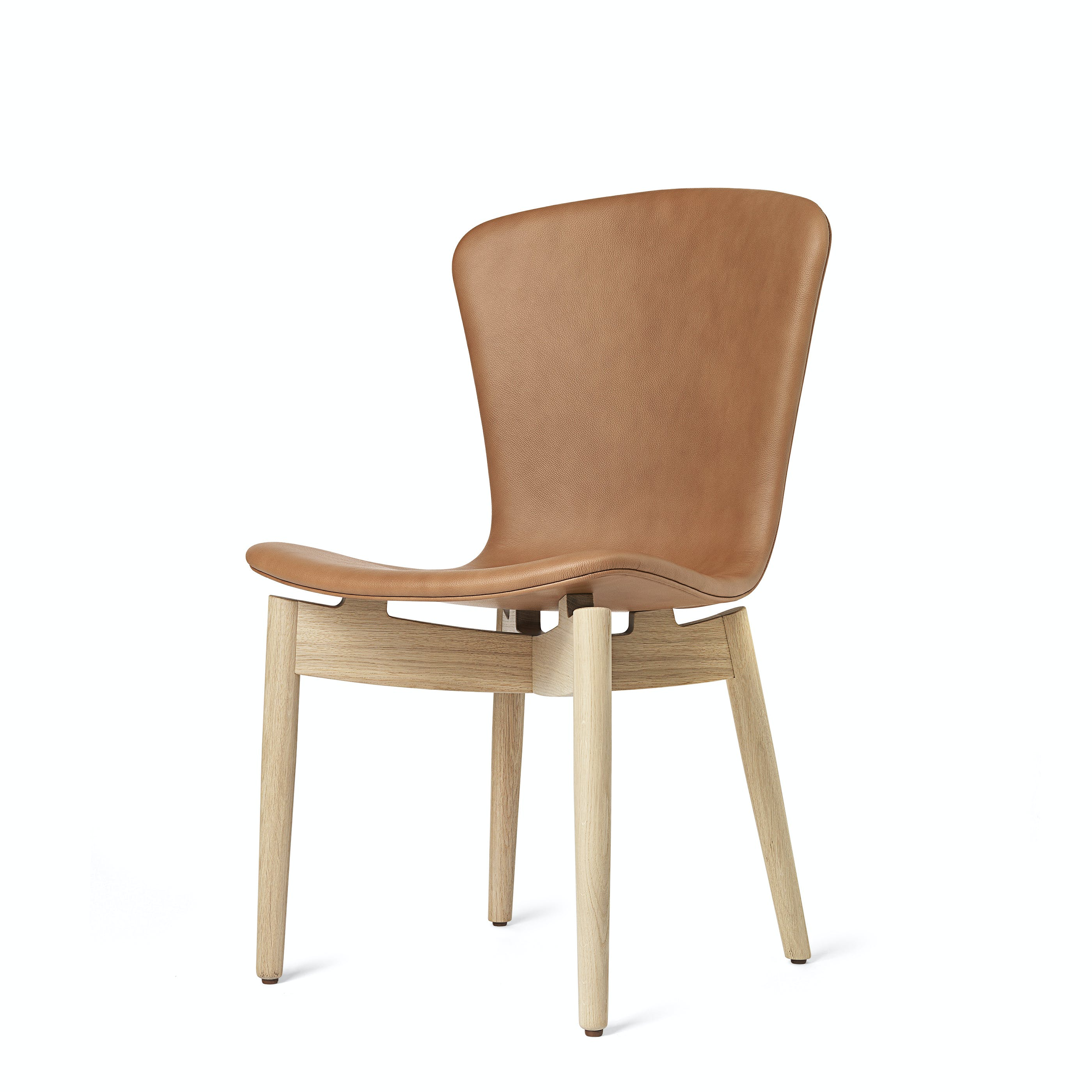 Mater Brandy Oak Shell Dining Chair Front Haute Living