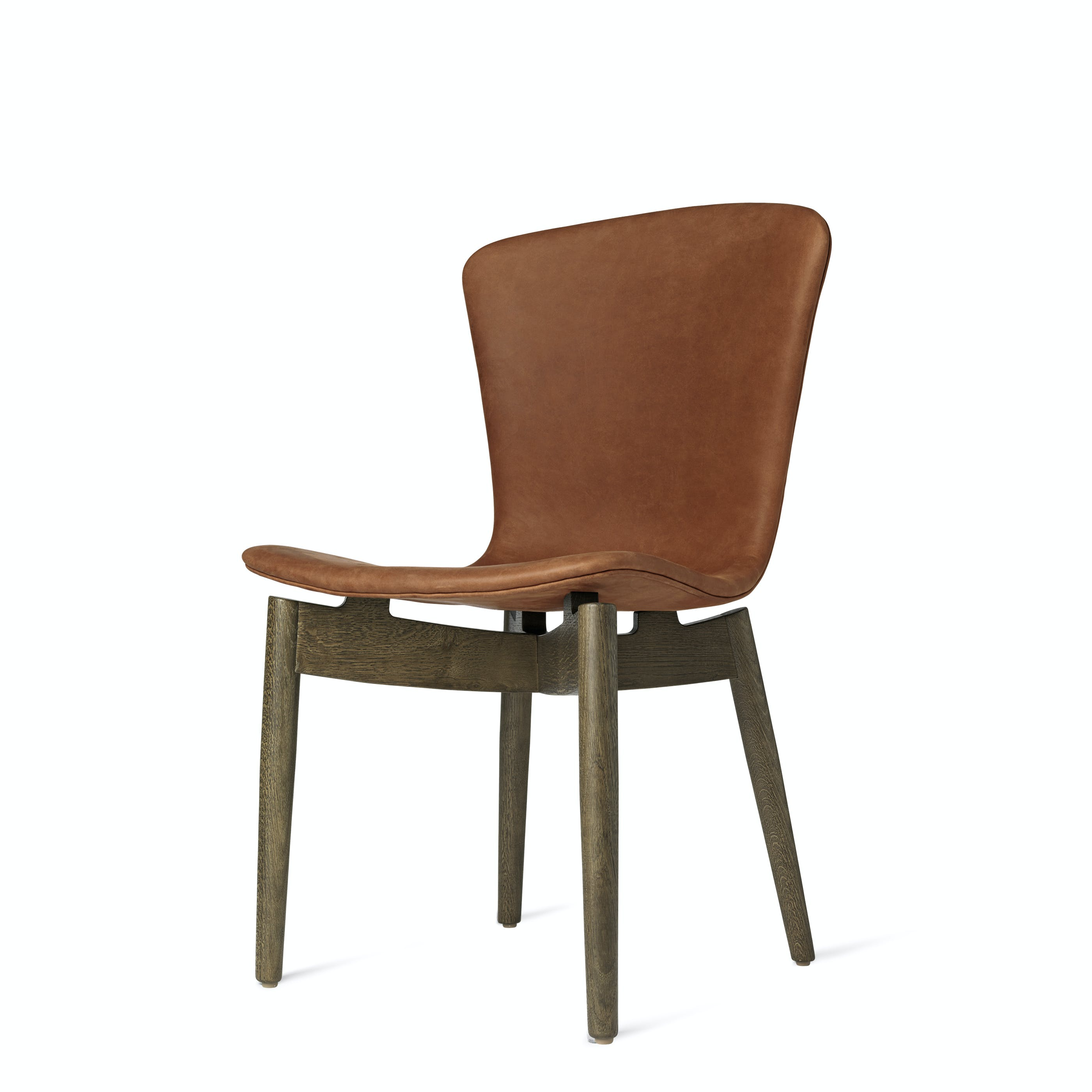 Mater Rust Shell Dining Chair Stained Oak Legs Haute Living