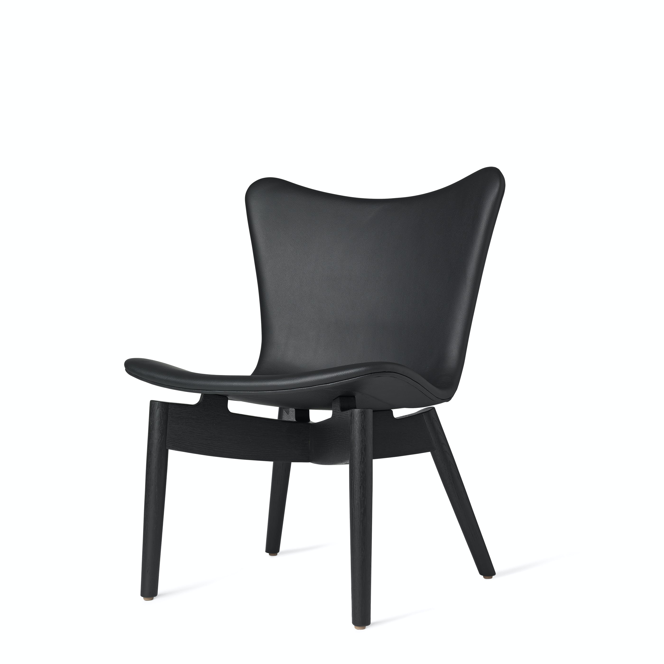 Mater Black Shell Lounge Chair Front Angle Haute Living