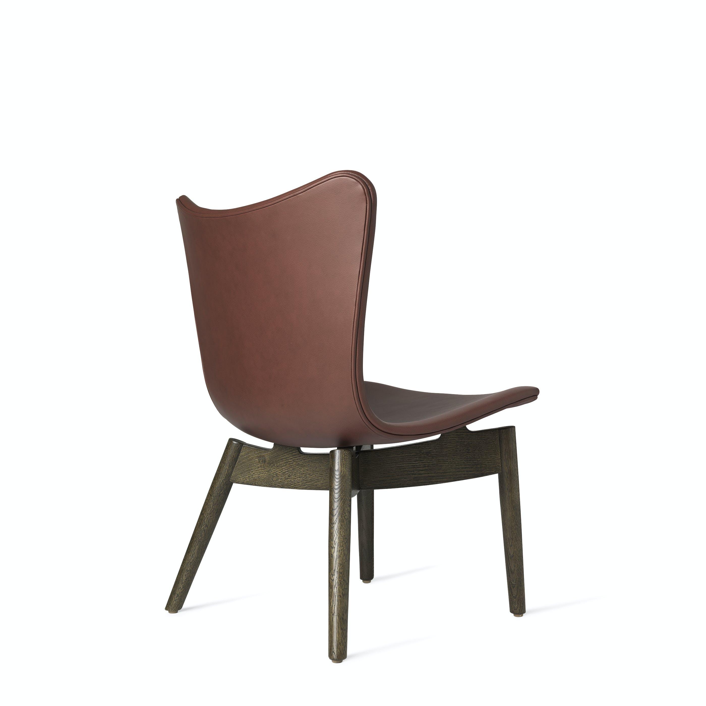 Mater Cognac Shell Lounge Chair Back Haute Living