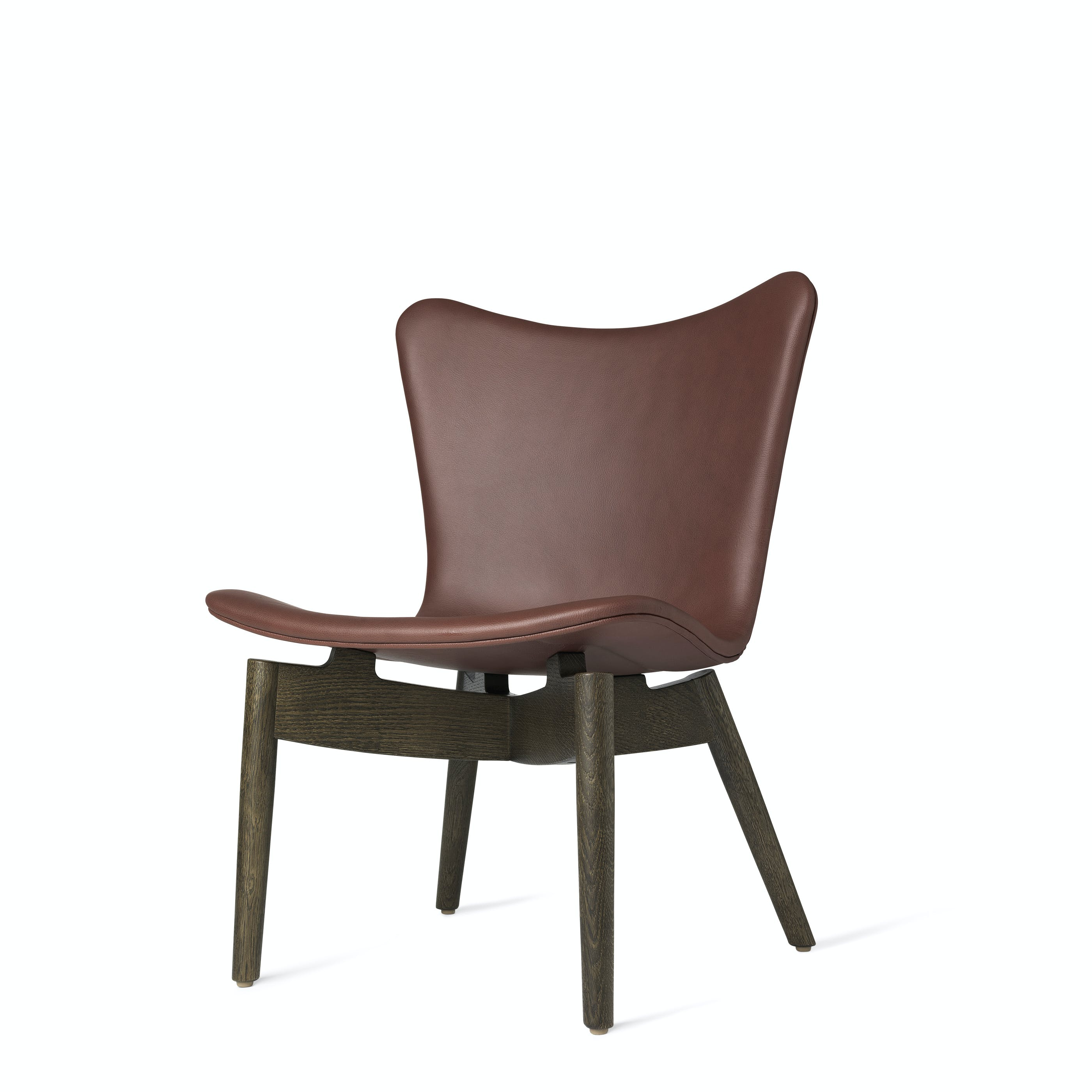 Mater Cognac Shell Lounge Chair Stained Beech Legs Haute Living