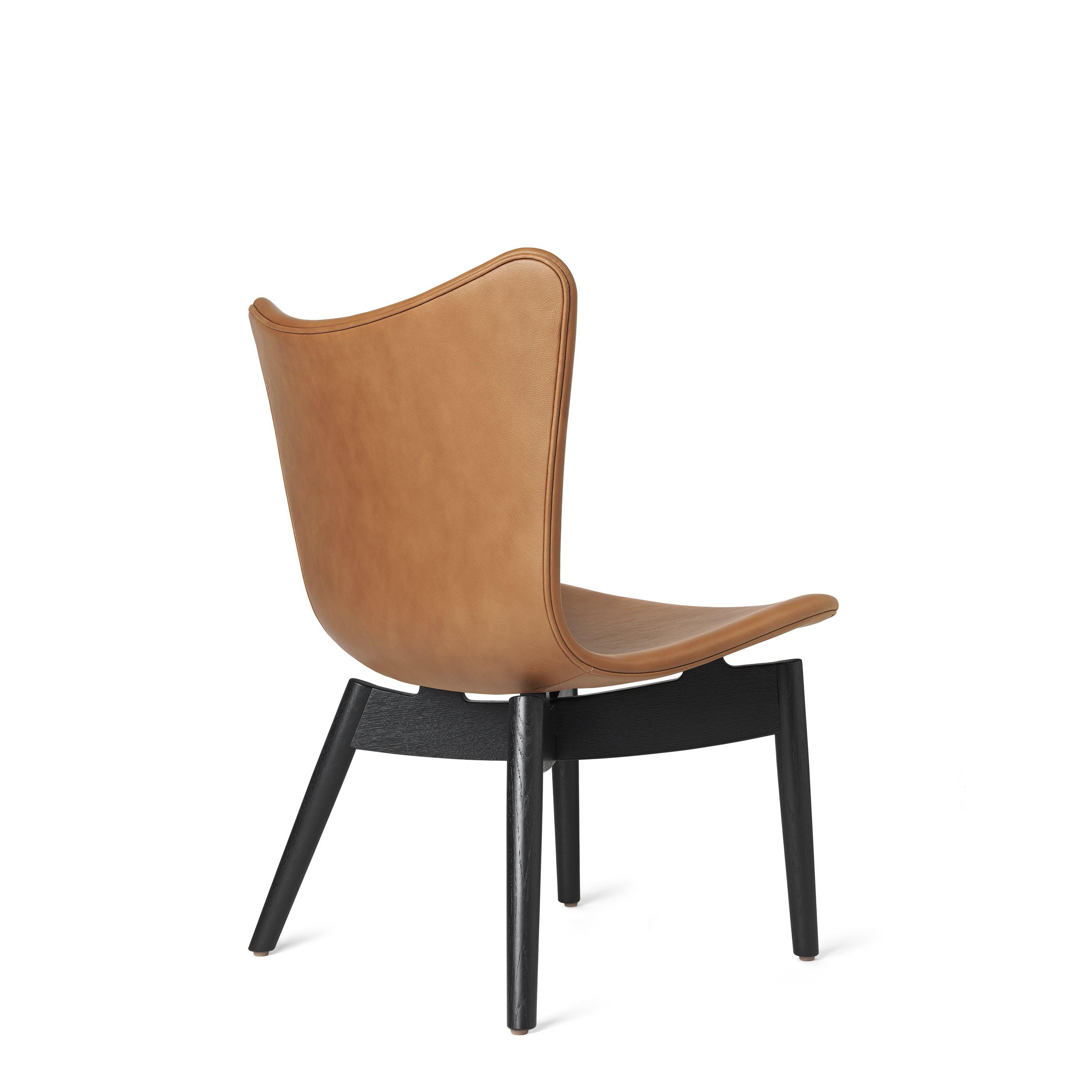 Mater Rust Shell Lounge Chair Black Legs Back Haute Living
