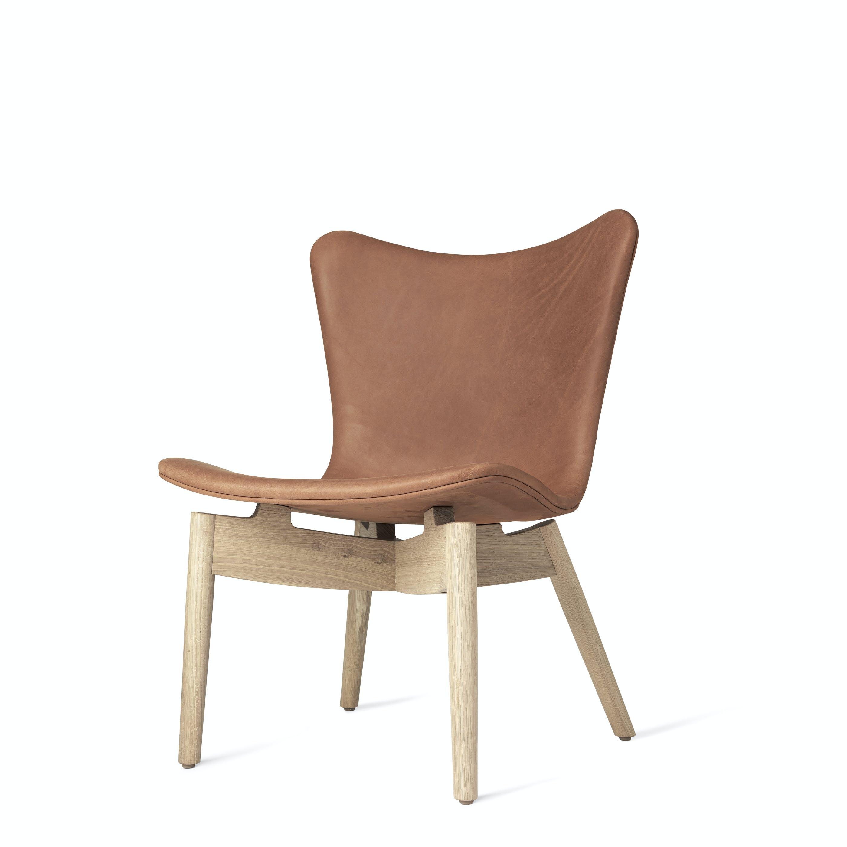Mater Rust Shell Lounge Chair Oak Legs Haute Living