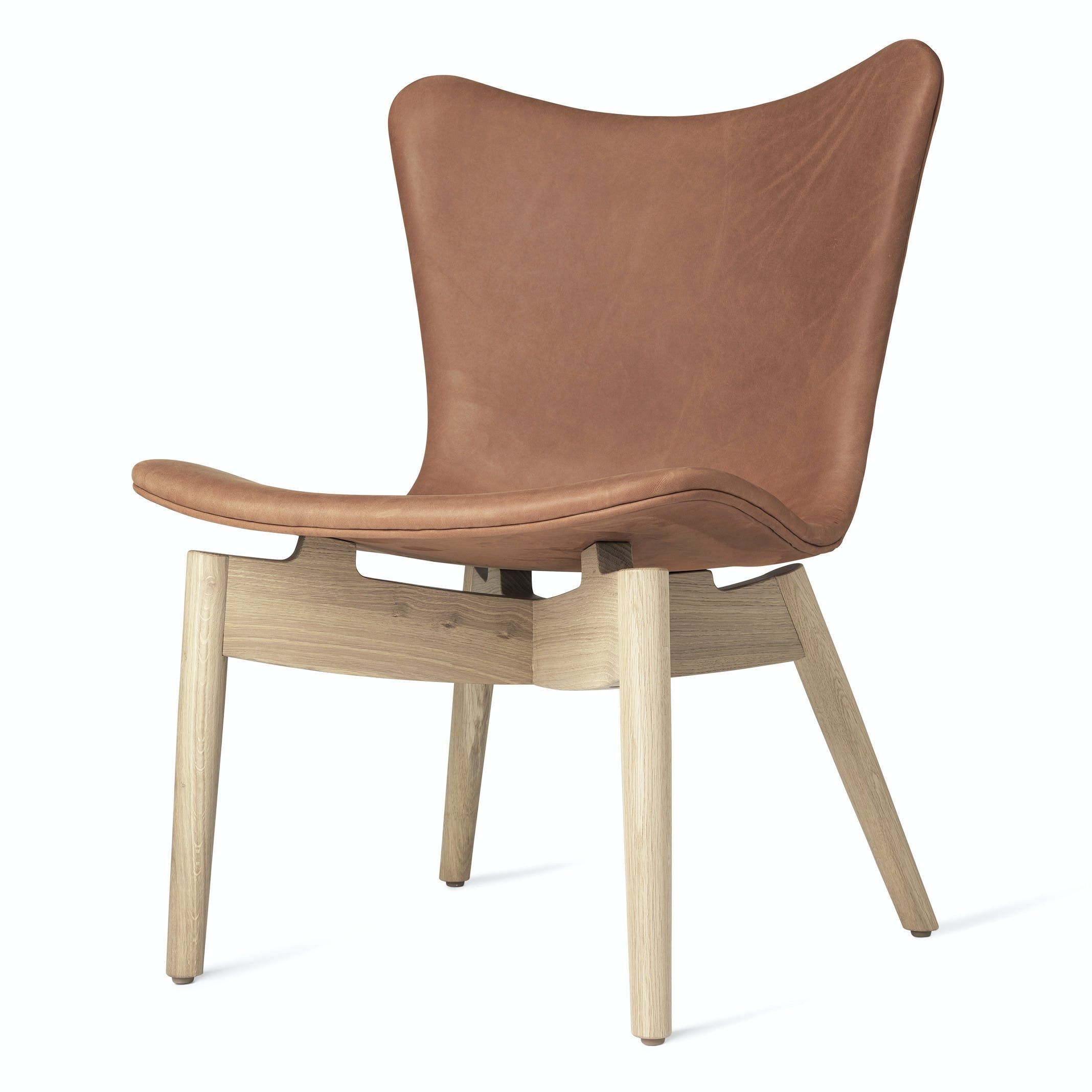 Mater Rust Shell Lounge Chair Oak Legs Haute Living