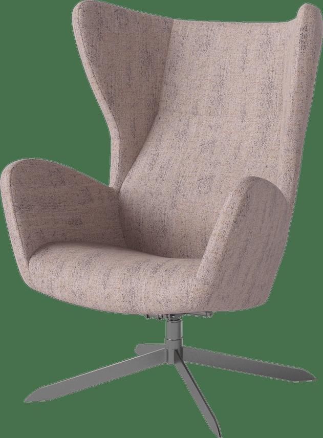 bolia pink sion swivel armchair haute living