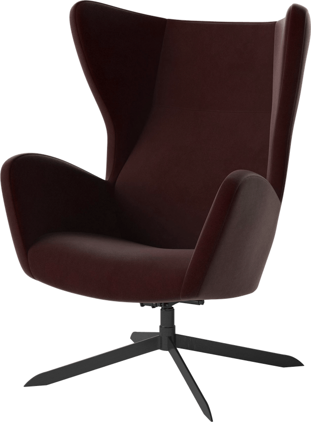 bolia burgundy sion armchair haute living