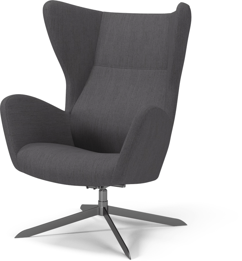 bolia grey sion swivel chair haute living