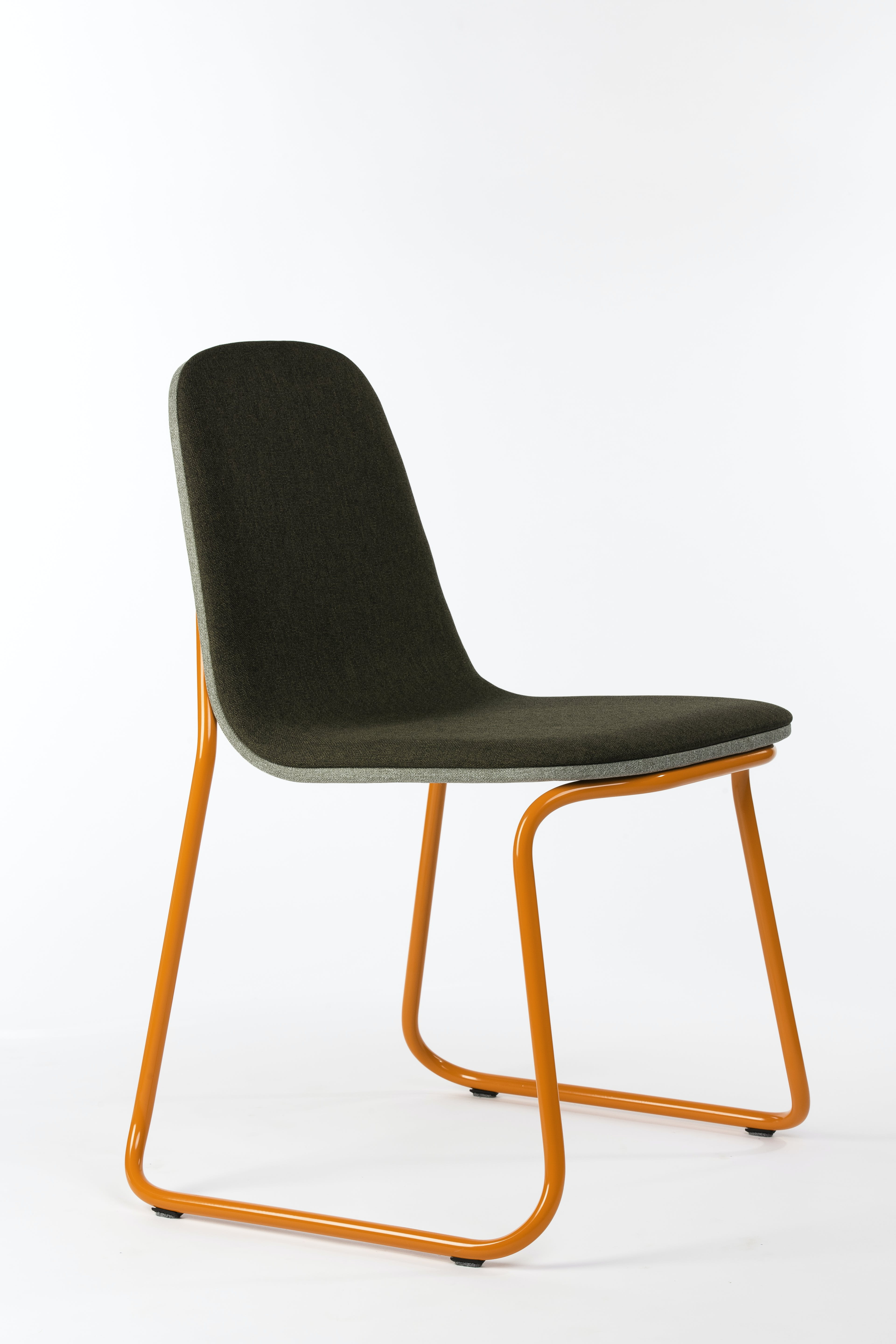 Bogaerts Label Orange Frame Siren Chair Angle Haute Living
